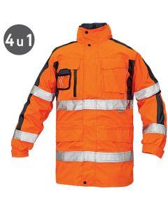 Tripura - vodootporna zimska jakna visoke vidljivosti